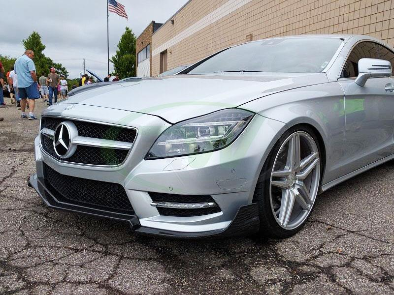 Mercedes W218 CLS550 with a Renn Style CF Front Lip Spoiler