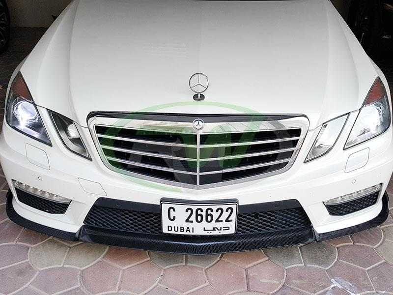 Mercedes W212 E63 from Dubai with Renn Style Carbon Fiber Front Lip