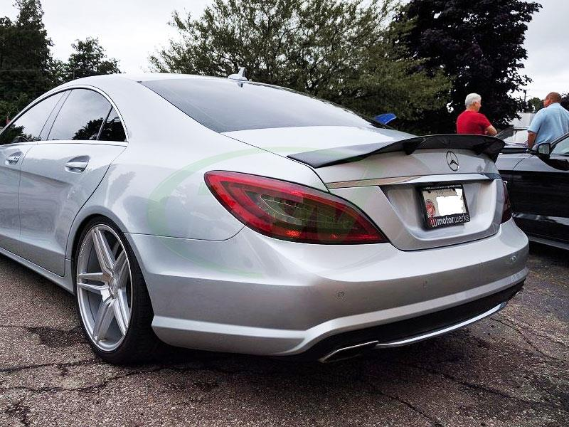 Mercedes W218 CLS550 with an RW CF Renn Style Trunk Spoiler