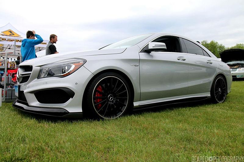 Mercedes CLA45 with RW Carbon Fiber Side Skirt Extensions