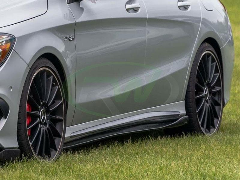 Mercedes C117 Cla250 Cla45 Amg Carbon Fiber Side Skirt