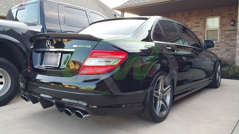 Mercedes W204 C63 AMG with our DTM Style Carbon Fiber Trunk Spoiler