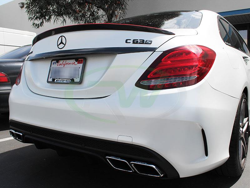 Mercedes W205 C63 AMG with an RW Carbon Fiber Trunk Spoiler