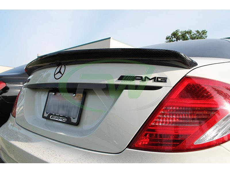 Mercedes W216 CL63 AMG with a Carbon Fiber Trunk Spoiler