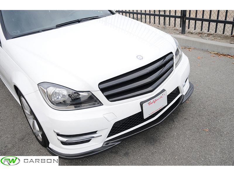 Mercede W204 2013  C250 with our carbon fiber front lip