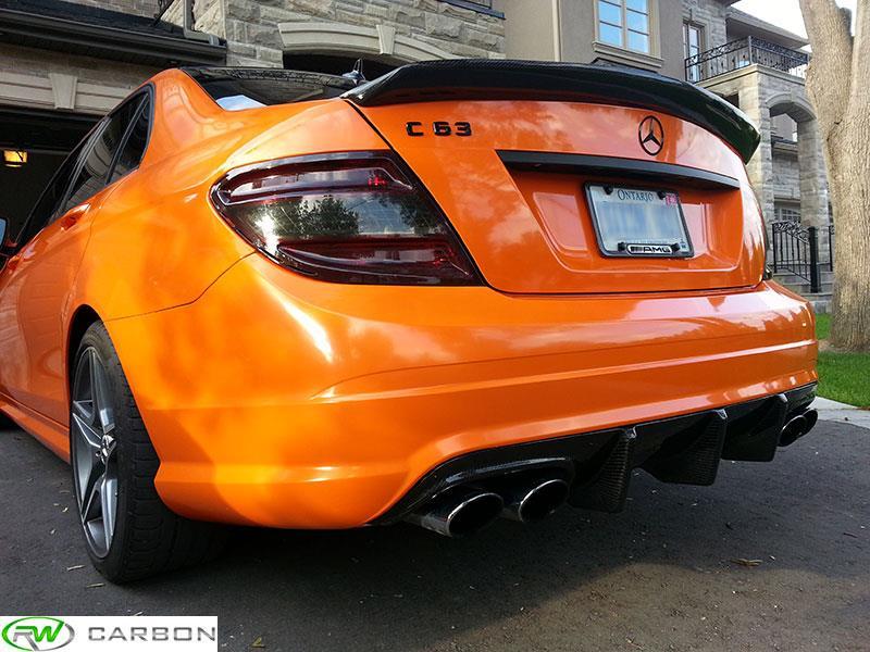 Mercedes W204 C Class Dtm Style Carbon Fiber Trunk Spoiler