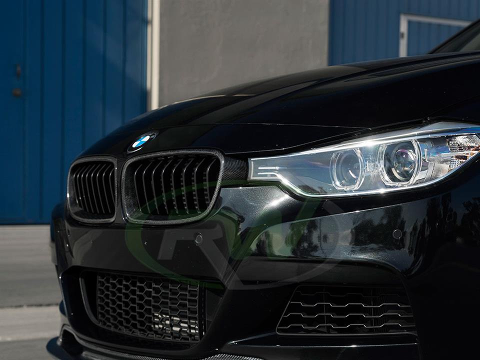 Rw Carbon Fiber Bmw F30 335i Grill Replacement