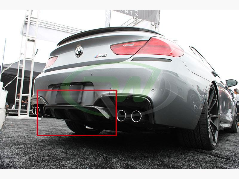 BMW F06 M6 Gran Coupe Fitted with the RW Carbon BMW Performance style carbon fiber center diffuser