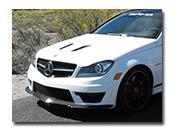 Mercedes W204 C63 Black Series Style Front Lip Spoiler Carbon Fiber