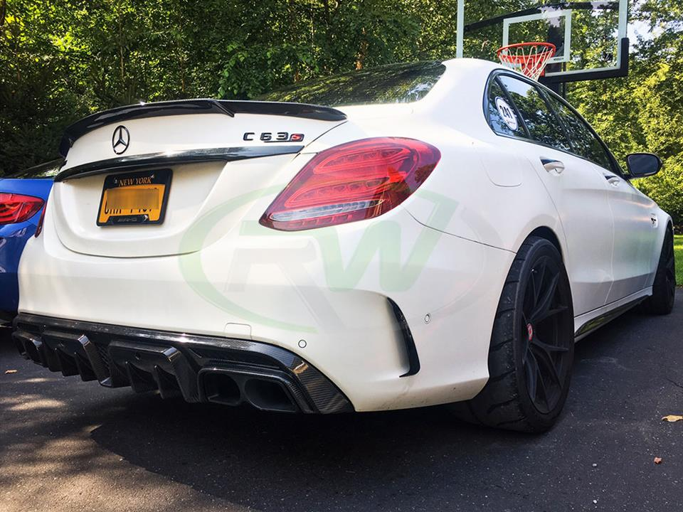 Mercedes W205 C63 gets an RW Brabus Style Carbon Fiber Diffuser