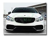 Mercedes W212 E63 Brabus Style Carbon Fiber Front Lip Spoiler