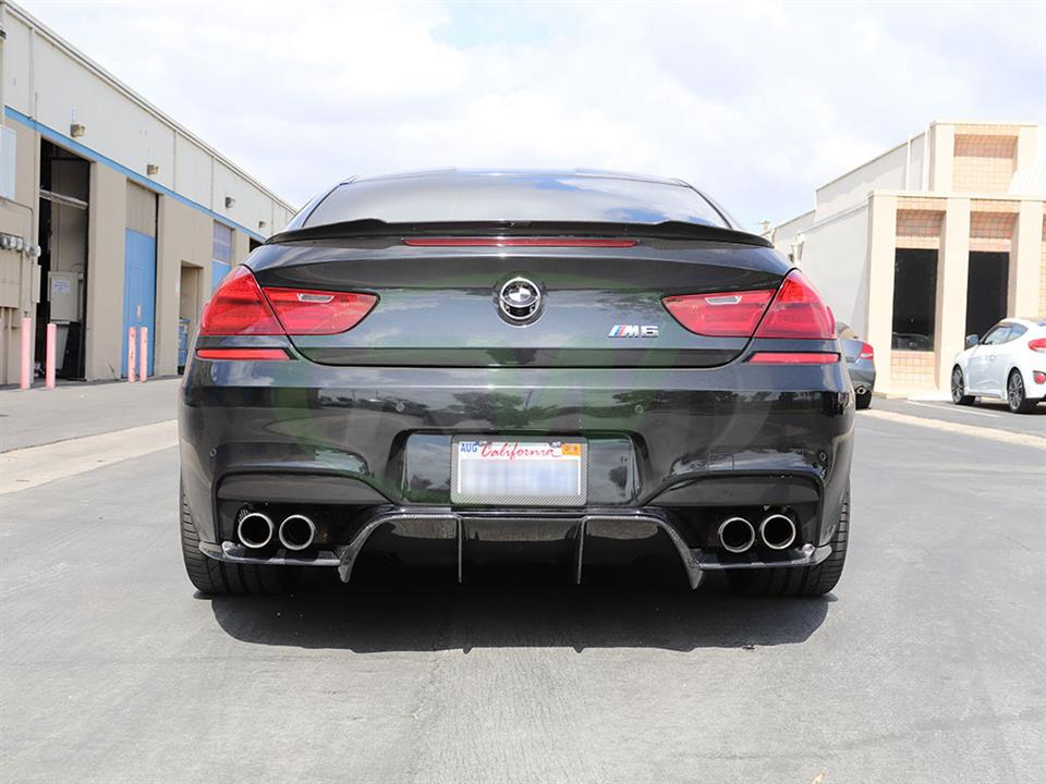 Black BMW F13 M6 with a new DTM Diffuser from RW