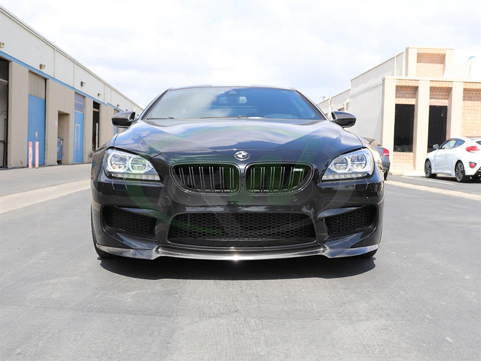 Black BMW F13 M6 get a new DTM Carbon Fiber Front Lip Spoiler from RW