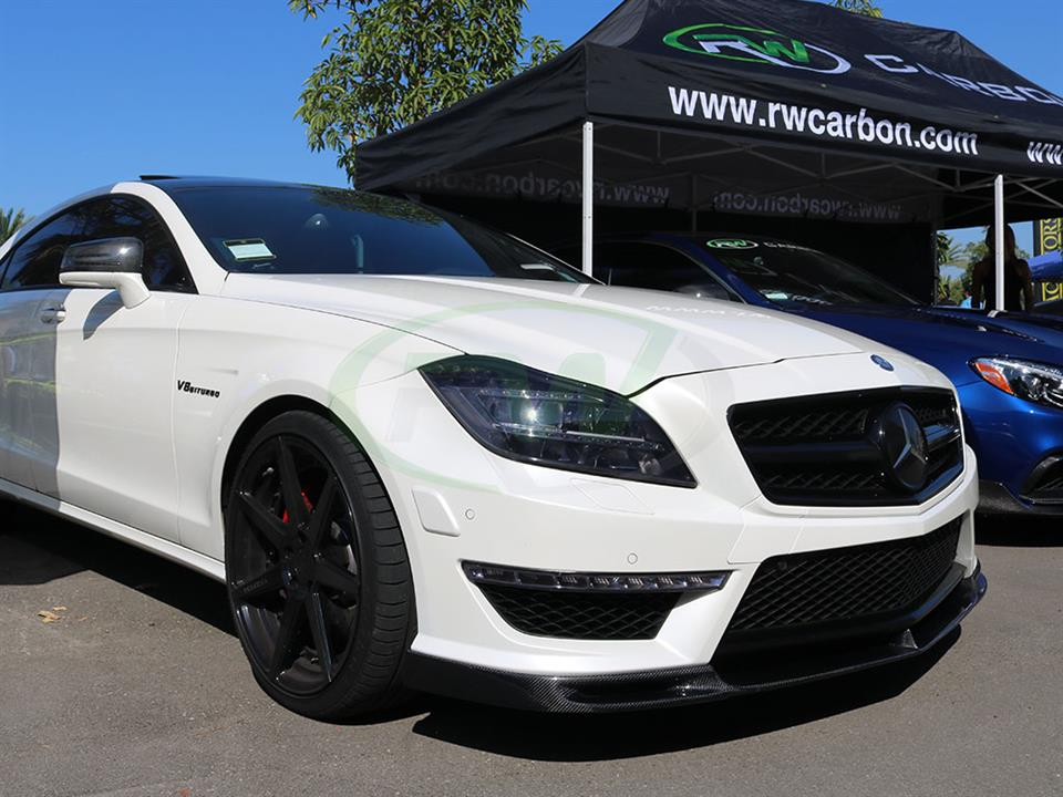 White Mercedes W218 CLS63 DTM Carbon Fiber Front Lip from RW