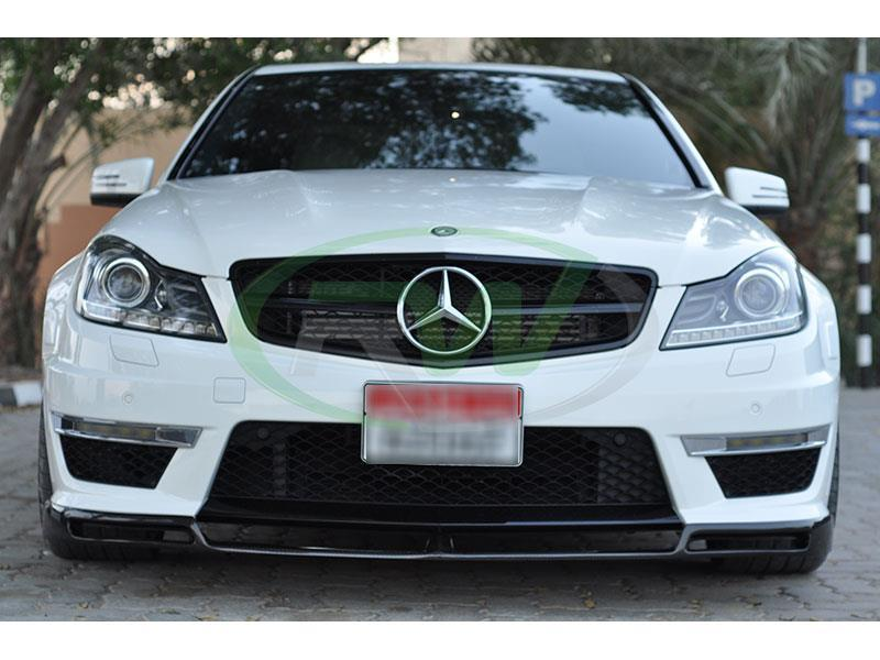 carbon fiber lip for 2012, 2013, 2014, and 2015 Mercedes W204 C63 AMG.