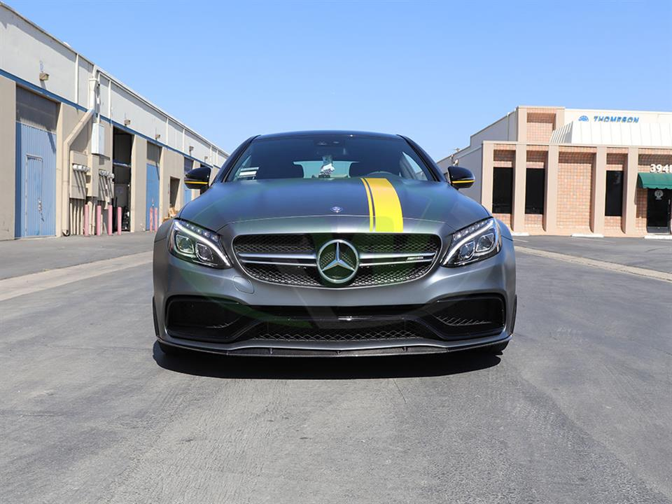 Mercedes W205 C63S Coupe Edition 1 Style RW Carbon Fiber Lip