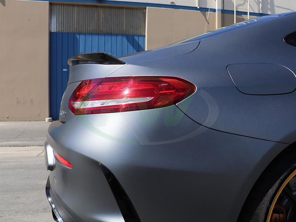 Mercedes W205 C63S Coupe gets a ED1 Style CF Trunk Spoiler