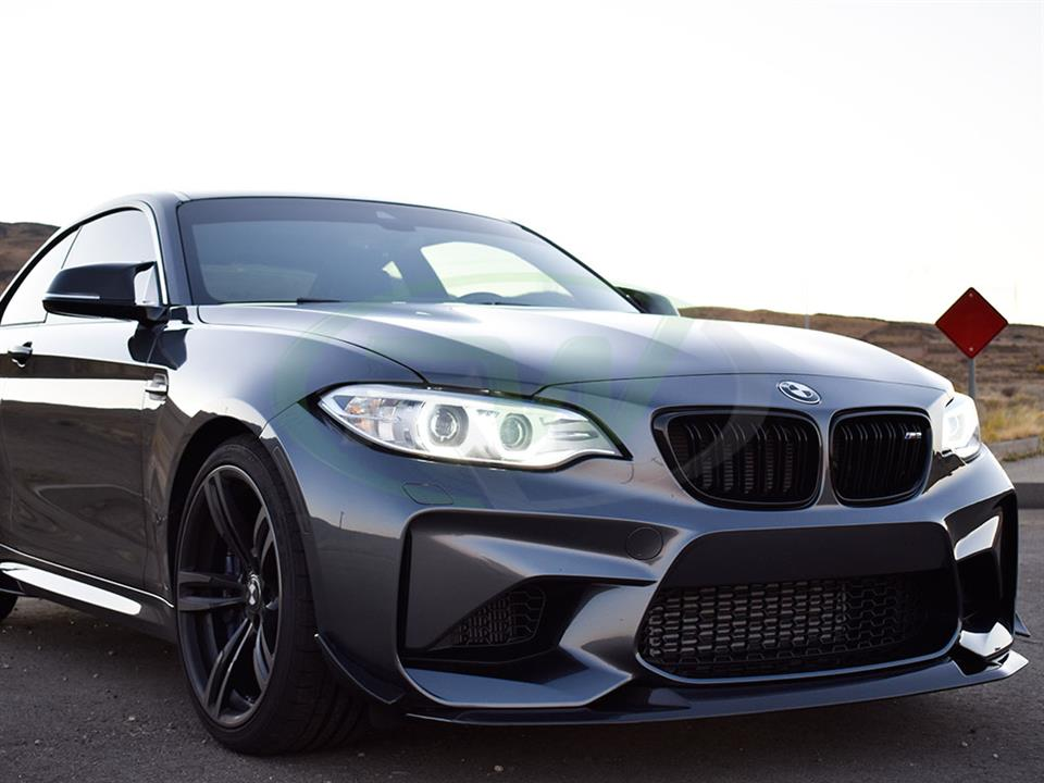 A grey BMW F87 M2 now gets a GTS Style Front Lip