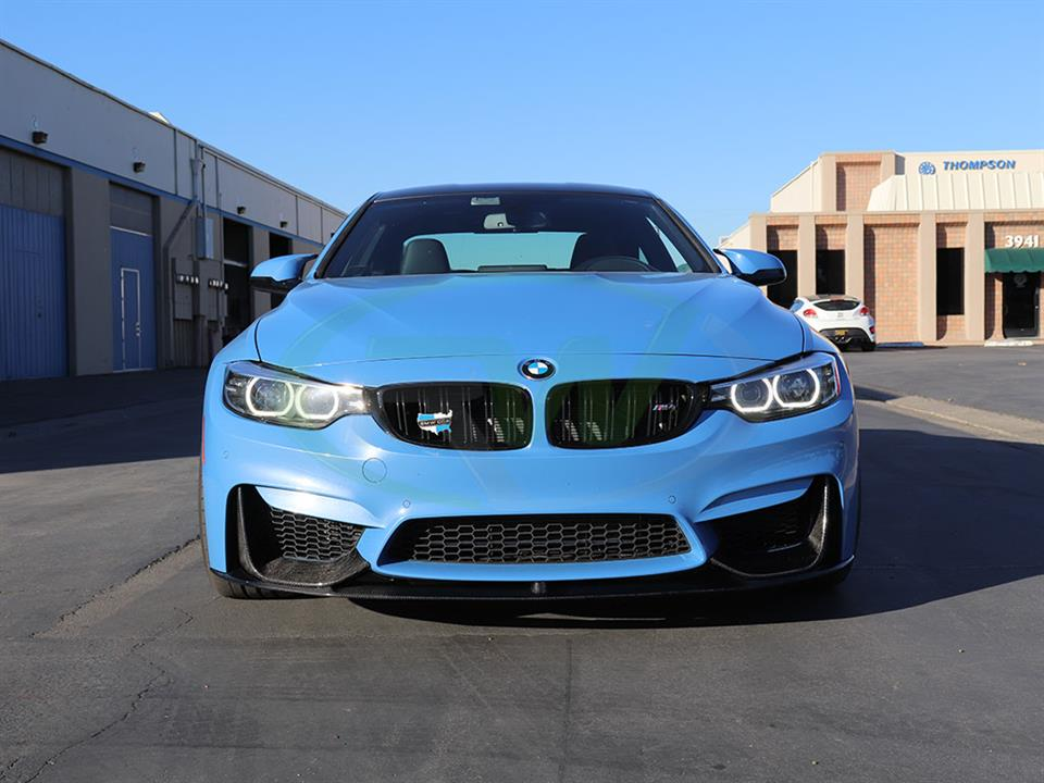 Yas Marina BMW F82 M4 Performance Style Carbon Fiber Front Lip Spoiler