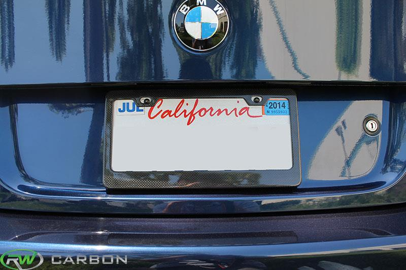 carbon fiber license plate frame us