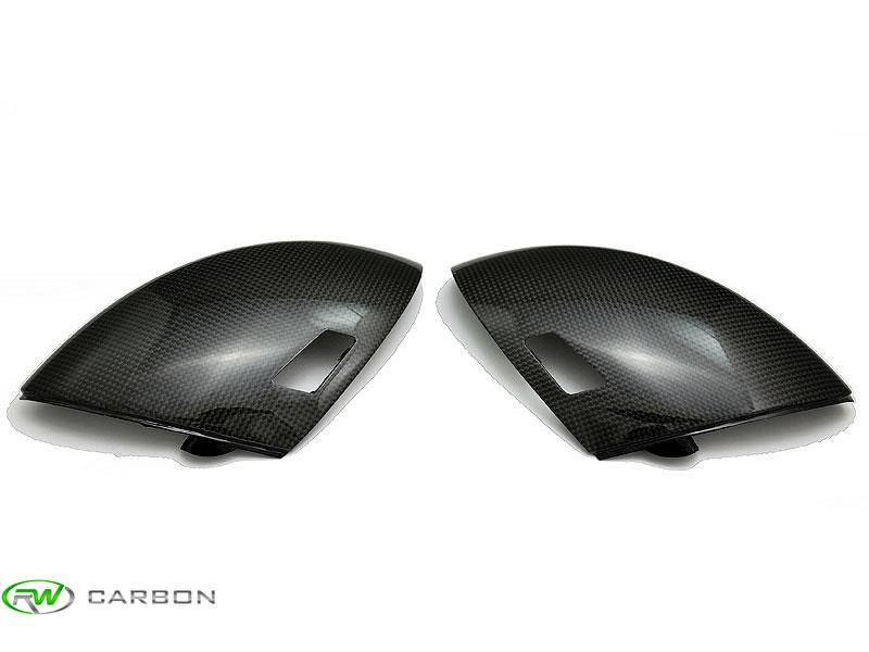 Obtain that aggressive exterior appearance with these RW Carbon BMW E60 M5 and E63/E64 M6 Carbon Fiber Mirror Covers.