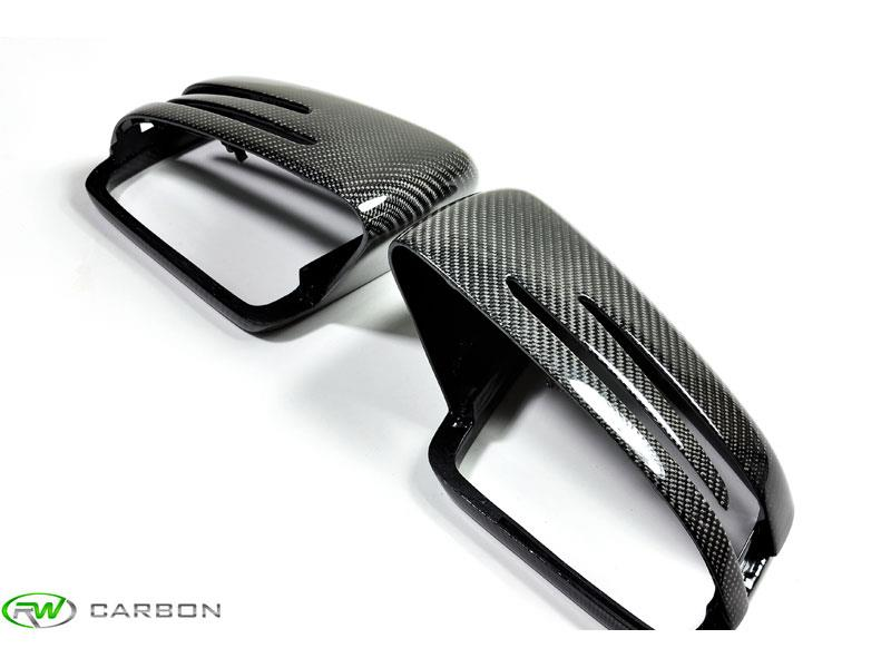 Complete the carbon fiber aero look with these full replacement cf mirror covers