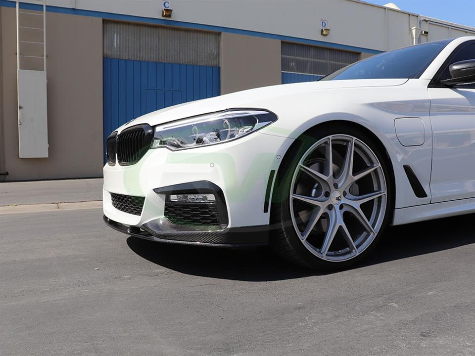 BMW G30 530e gets a new RW Performance Style CF Front Lip Spoiler