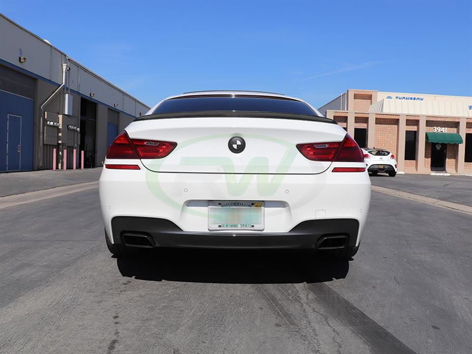 BMW F06 650i with an RW Performance Style Carbon Fiber Trunk Spoiler