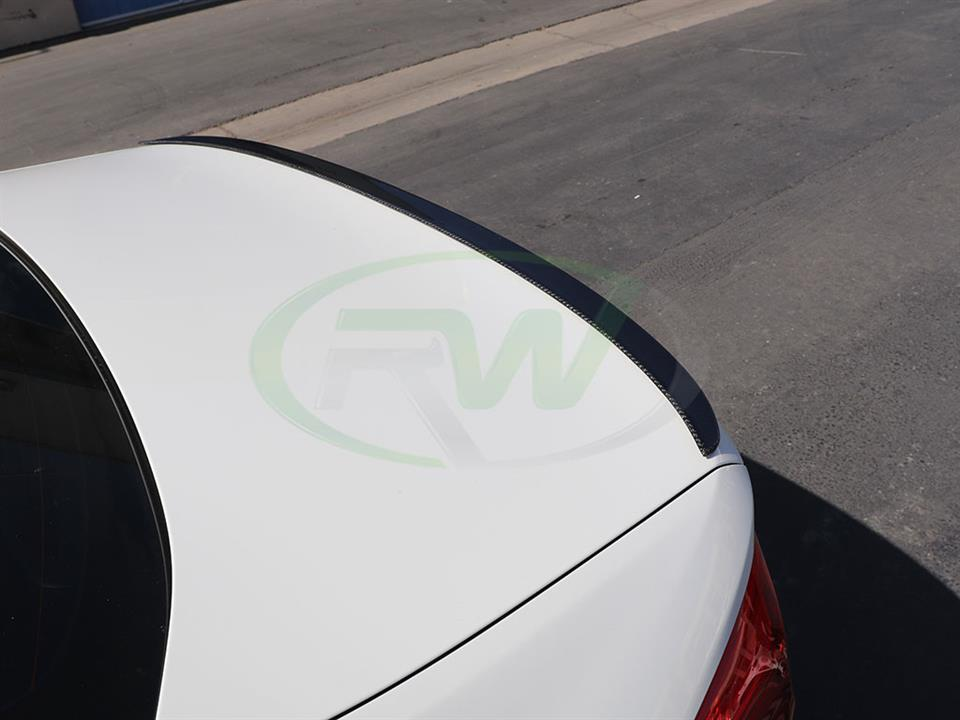 BMW G30 530e Performance Style RW Carbon Fiber Trunk Spoiler