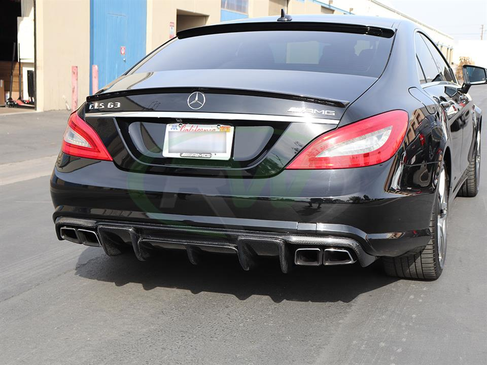 Mercedes W218 CLS63 AMG with an RW Renn Style Carbon Fiber Diffuser