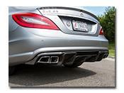 Mercedes W218 Renn Style Carbon Fiber Diffuser