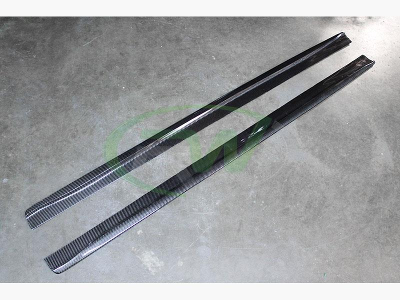 BMW F32 and F33 carbon fiber side skirt extensions by RW Carbon