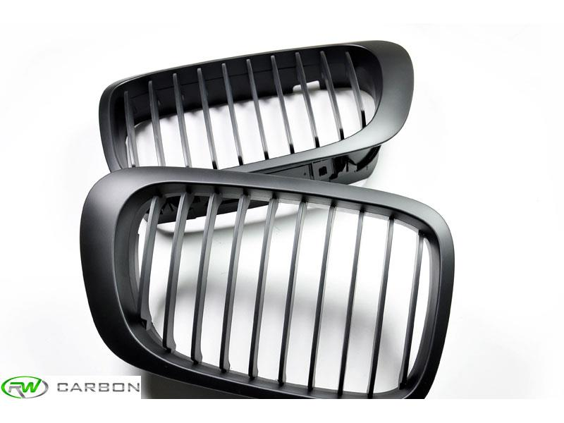 Sleek new appearance for your E46 or M3 is only a few minute install away with these BMW matte black grilles.