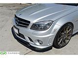 The elegant exterior aero mercedes w204 c63 arkym style front lip in carbon fiber.
