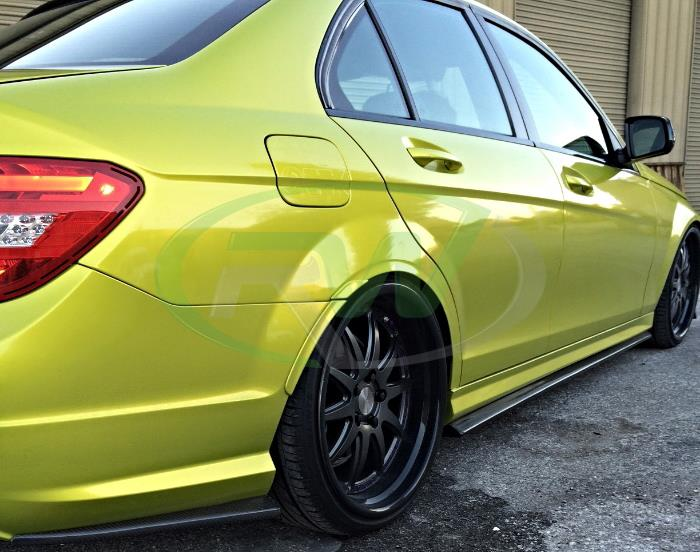 CF side skirt extensions for the C63 sedan and coupe
