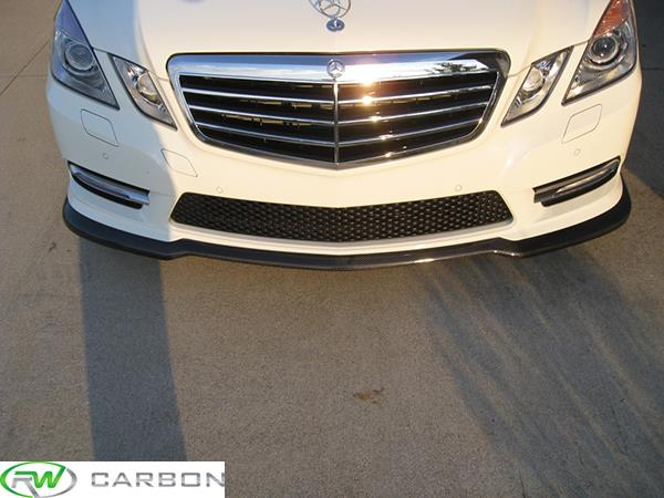 RW Carbon Mercedes W212 E Class Carbon Fiber Lip installed on Mercedes E350 Sport!