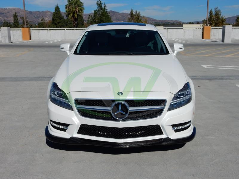 Mercedes Cls Price >> Mercedes W218 CLS550 Godhand Style Carbon Fiber Front Lip Spoiler