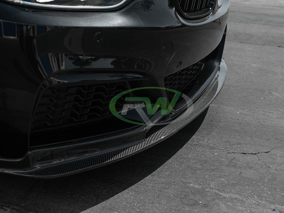 rw carbon fiber bmw f22 black with 3d style cf front lip