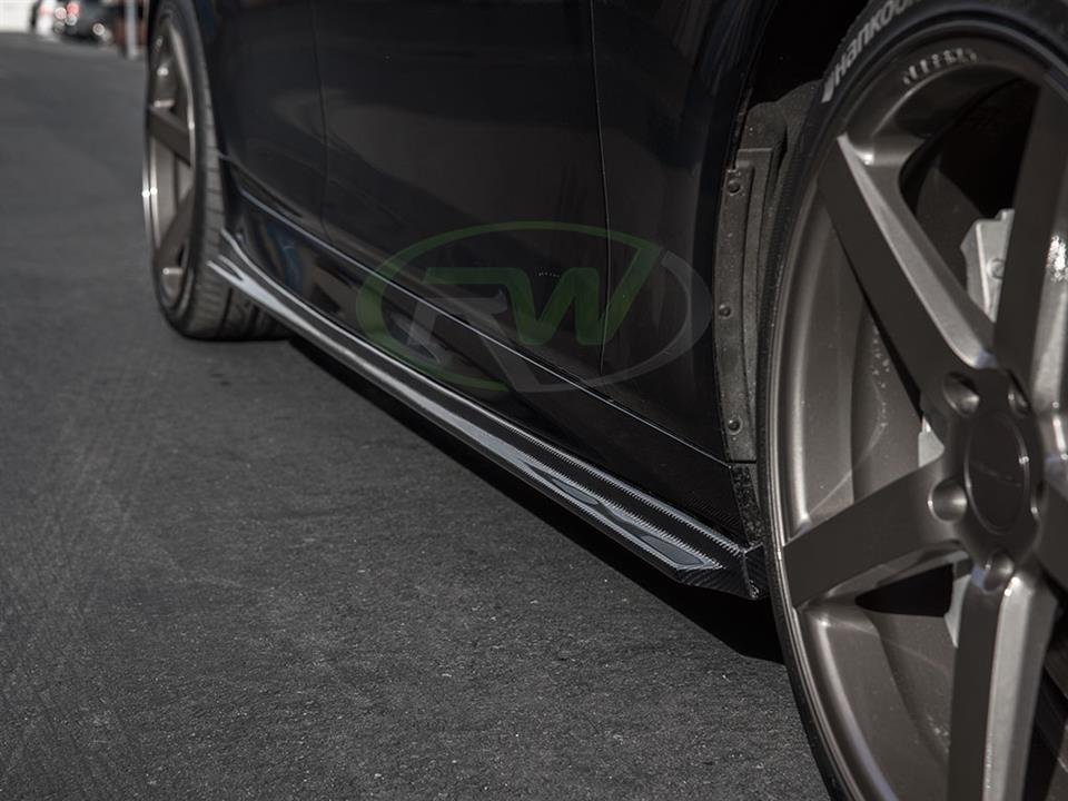 Onyx Black Bmw F10 550i 5 series Rw Carbon Fiber Side Skirt Extension