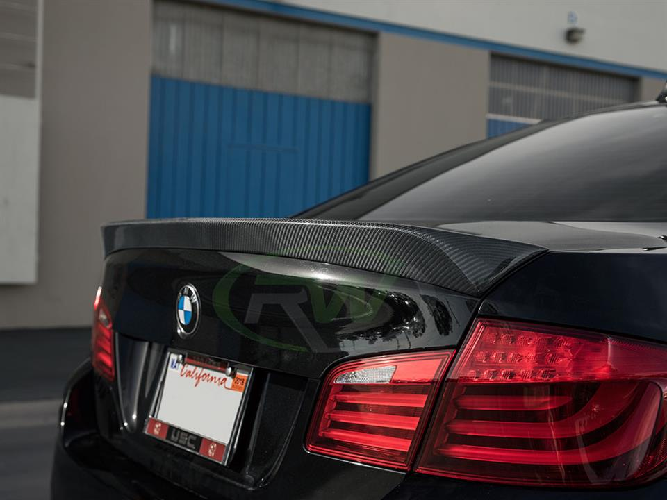 BMW F10 550i gets a new RW DTM Carbon Fiber Trunk Spoiler
