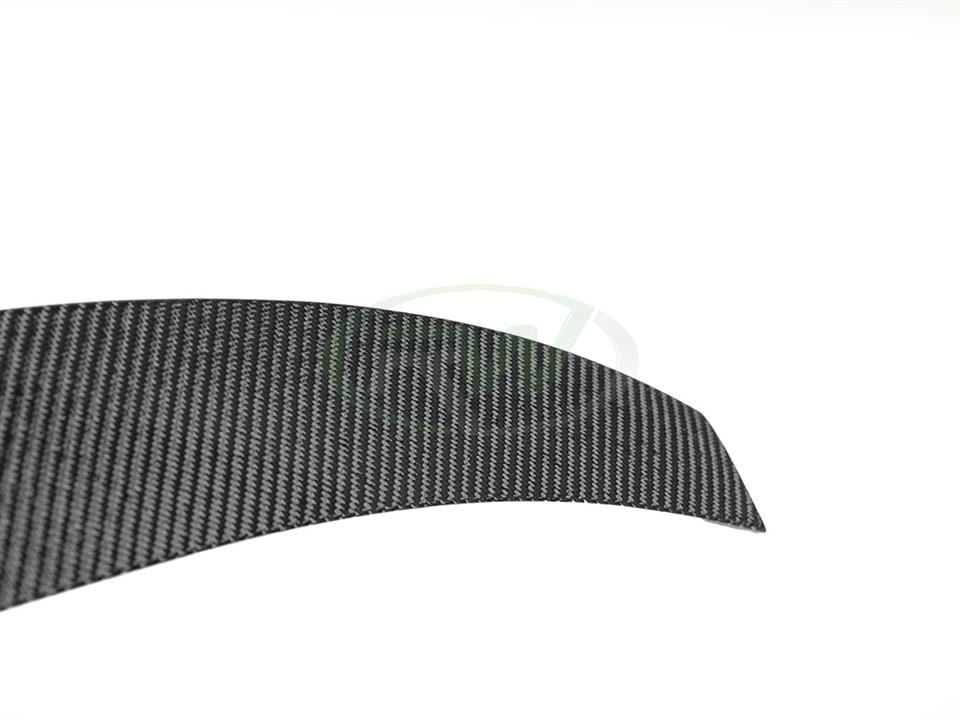 rw carbon fiber bmw f26 x4 performance style cf trunk spoiler