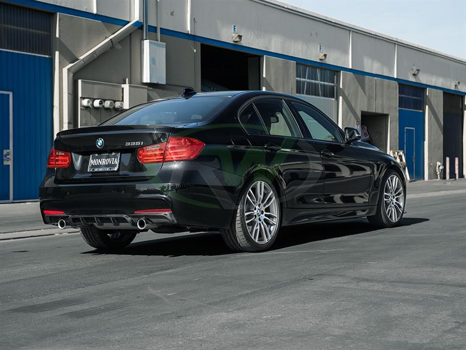 rw carbon bmw f30 335i carbon performance rear diffuser