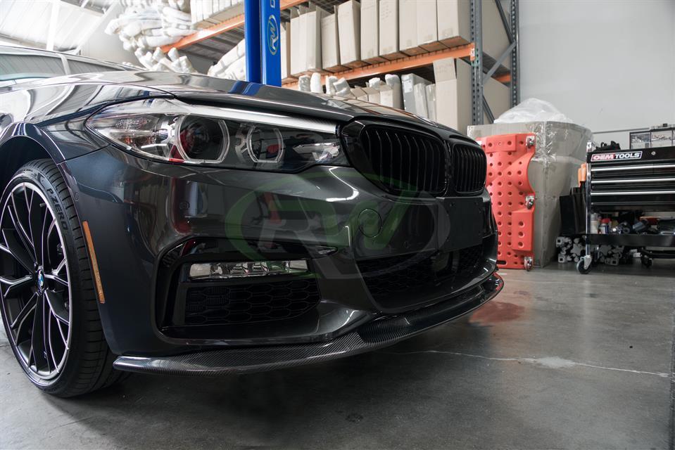 RW Carbon | BMW G30 3D Style Carbon Fiber Front Lip Spoiler