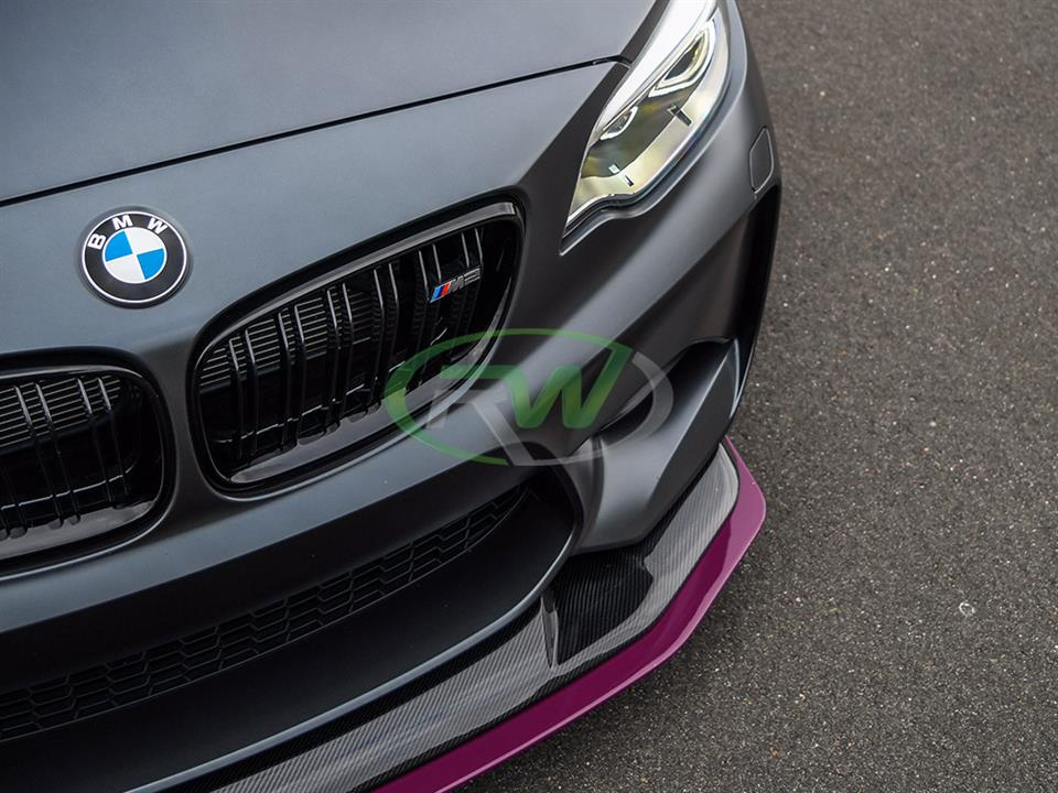 grey bmw f87 m2 with rw carbon fiber gts style cf front lip
