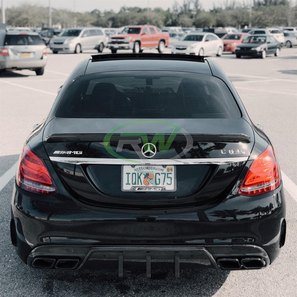 Mercedes W205 C63 C63S DTM Carbon Fiber Rear Diffuser