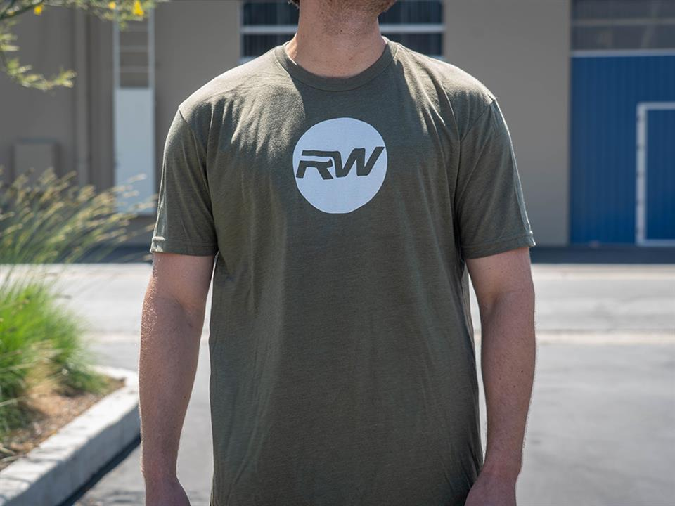 rw carbon fiber military green circle chest tee