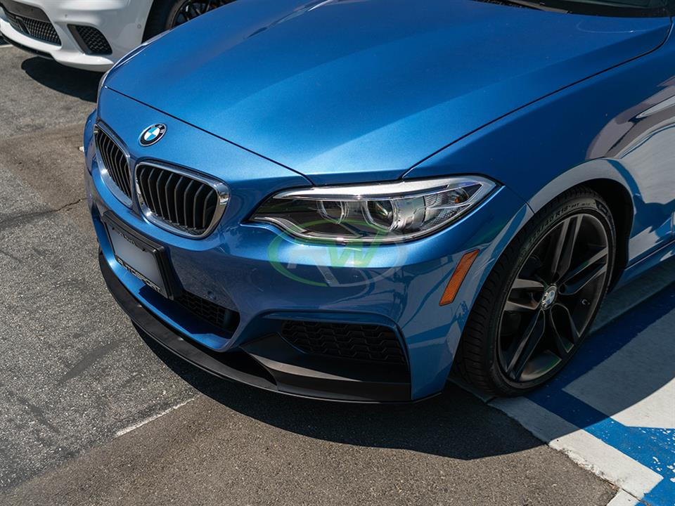 rw carbon fiber f22 performance style pp front lip