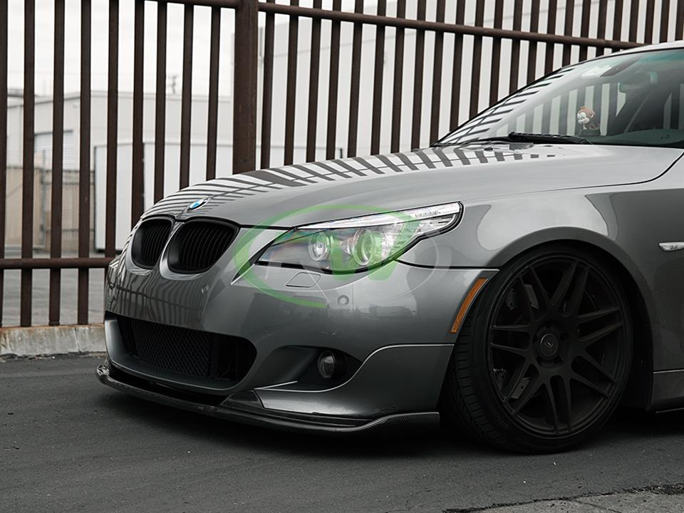 bmw e60 550i 5 series with m tech hamann style cf front lip