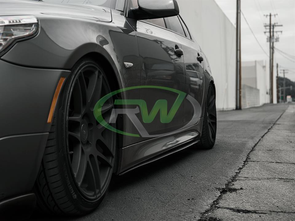rw carbon fiber bmw e60 550i 5 series with cf side skirt extensions