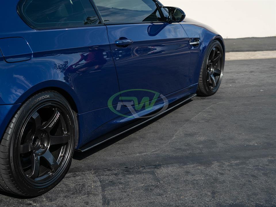 rw carbon fiber bmw e92 cf side skirt extensions